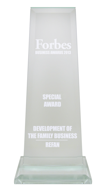 "Refan: Forbes business awards 2013  ""Development of the family business"""