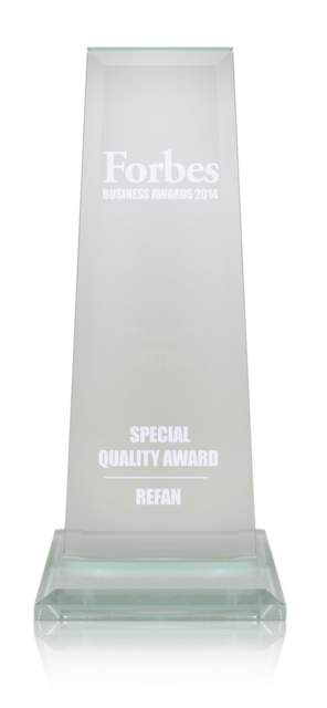 "Refan: Forbes business awards 2014  ""Special Quality Award"""