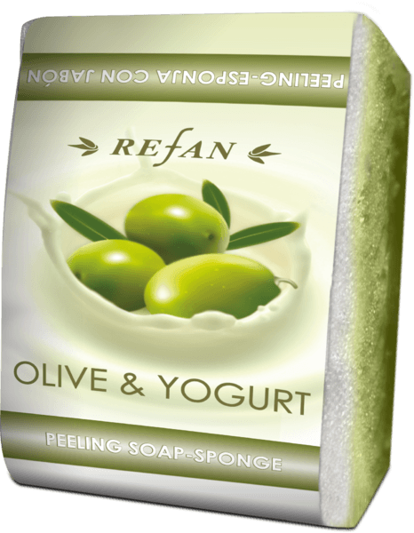 Пилинг сапун-гъба Olive and Yogurt