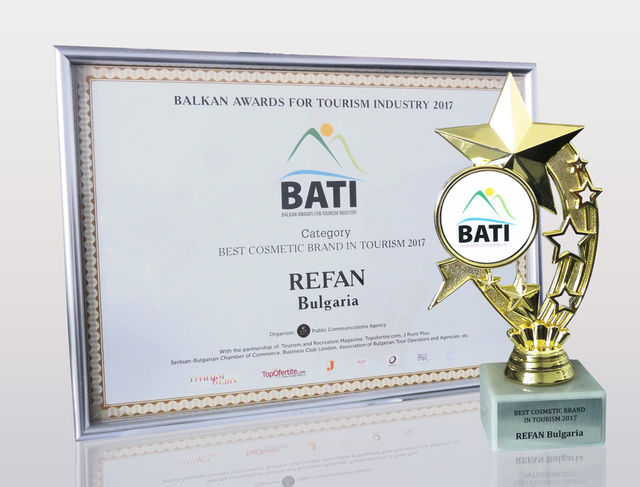 Refan: Best cosmetic brand in tourism 2017