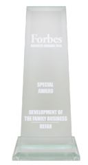 "Forbes business awards 2013  ""Development of the family business"""