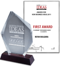 "Refan: First award for ""New business model"" 2011"