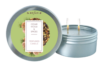 Cedar wood&Spices perfumed candle