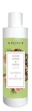 Cedar wood&Spices shampoo and shower gel