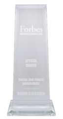 "Refan: Forbes Business Awards 2016   ""Social and public engagement"""